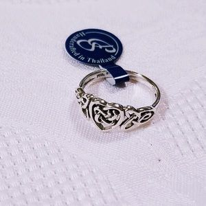 Sterling Silver Celtic Knotwork Heart Ring